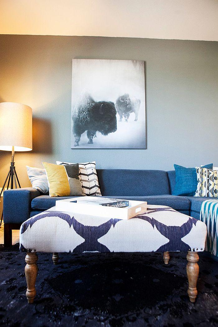 Мягкие журнальные столики - вариант от Interior Design Collaborative