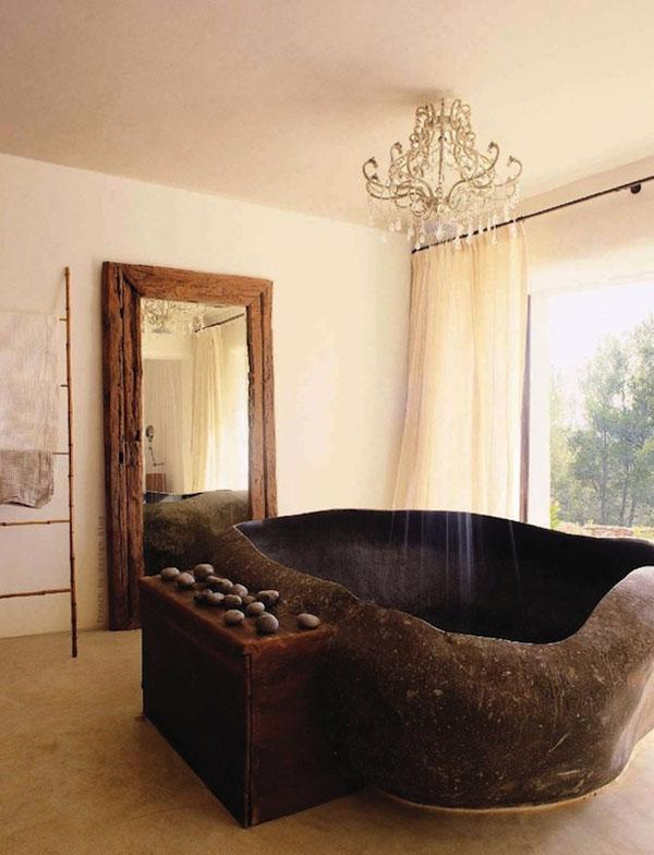 Piedra natural en el interior de la casa - estaremos más cerca de la naturaleza.