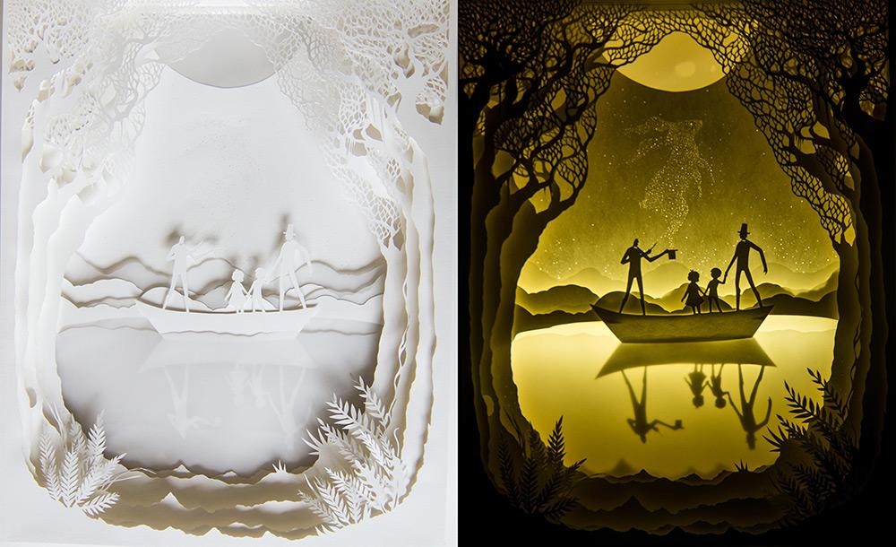 Восхитительное скульптура из бумаги от Hari & Deepti