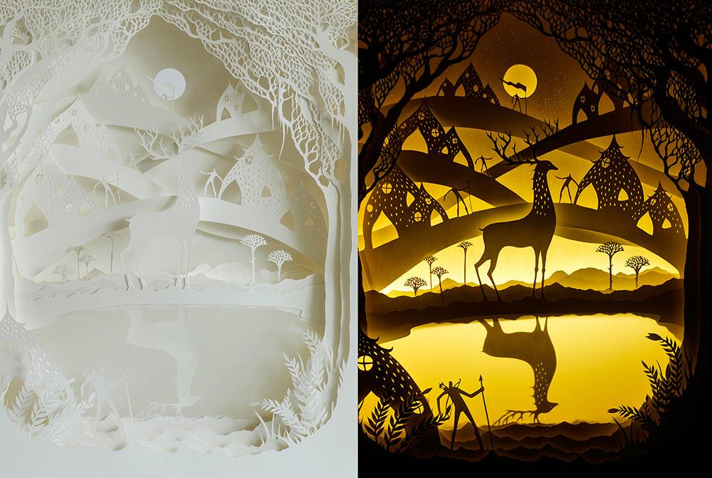 Бесподобное скульптура из бумаги от Hari & Deepti