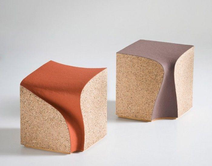 Креативные стулья из коры пробкового дерева