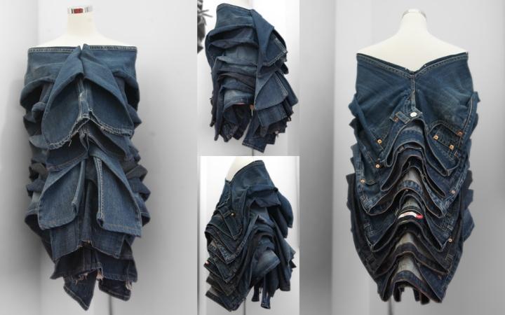 Необычная инсталляция из джинсов от «Levi's» и «Fubon Art»