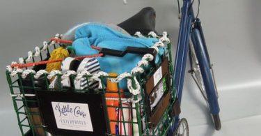 Креативная корзина для велосипеда из переработанных материалов