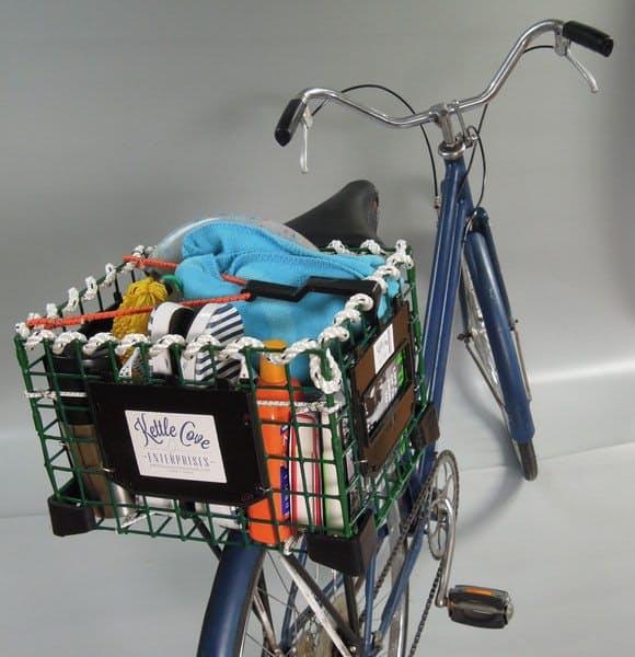 Необычная корзина для велосипеда