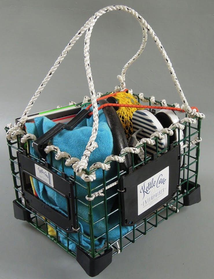 Корзина для велосипеда из деталей ловушки для омаров