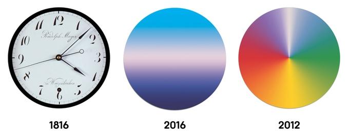 Часы, показывающие время года Today от Scott Thrift