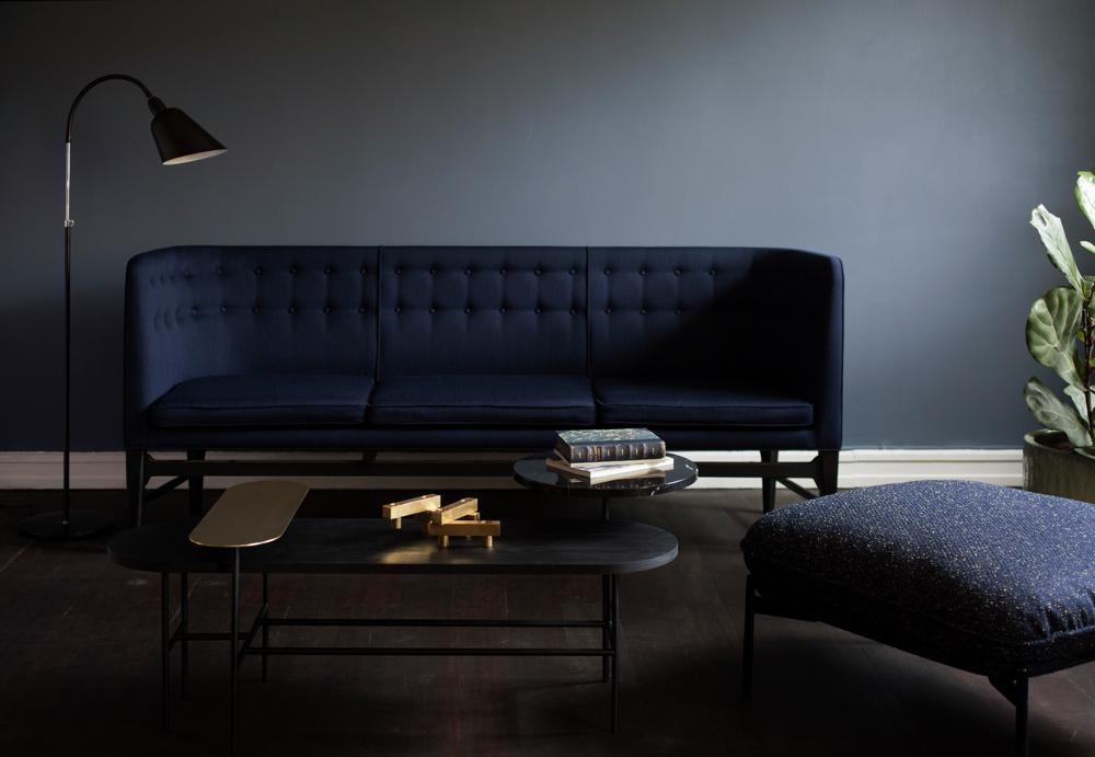 Свет в интерьере квартиры: идея чёрной лампы