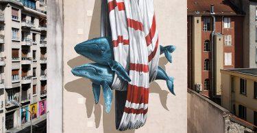 Уличное искусство студии NeverCrew: масштабные росписи с социальным подтекстом