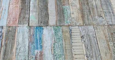 Креативное напольное покрытие из дерева