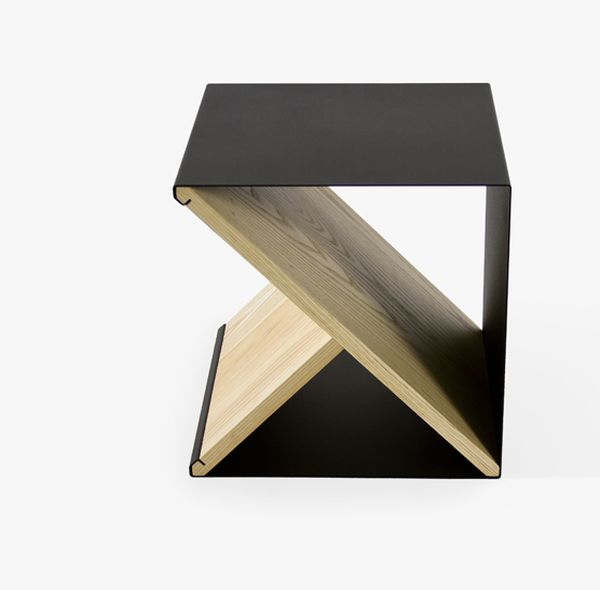 Красивый стальной табурет от Noon Studio