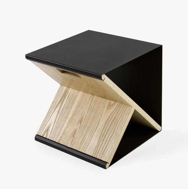 Прелестный стальной табурет от Noon Studio