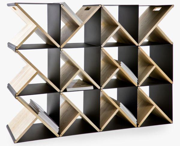 Стеллаж из стальных табуретов от Noon Studio