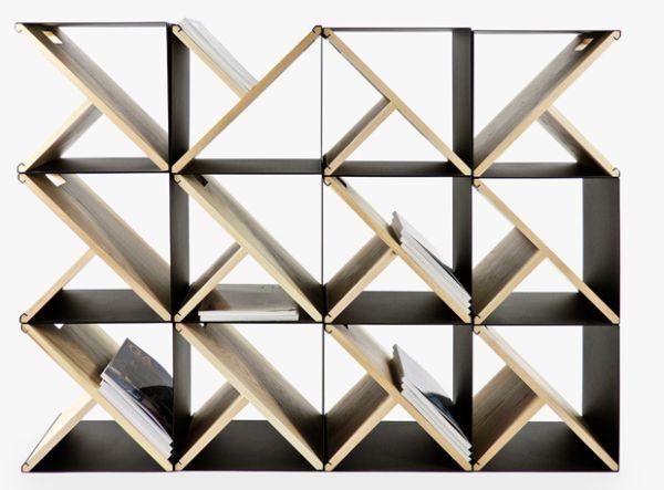 Прекрасный стеллаж из стальных табуретов от Noon Studio