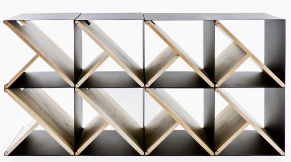 Чудесный стеллаж из стальных табуретов от Noon Studio