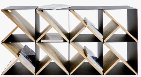 Необычный стеллаж из стальных табуретов от Noon Studio