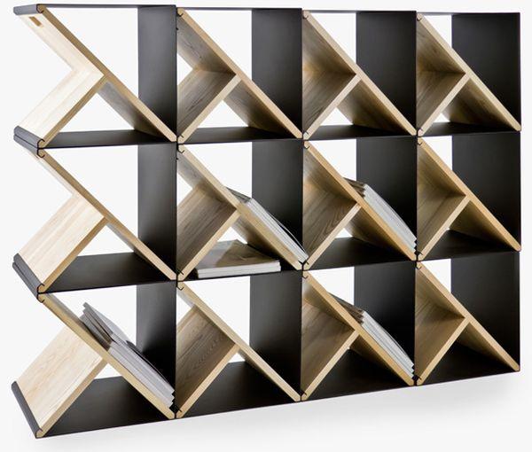 Красивый стеллаж из стальных табуретов от Noon Studio