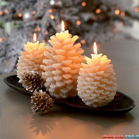 Новогодние свечи для праздничного интерьера - Фото 1