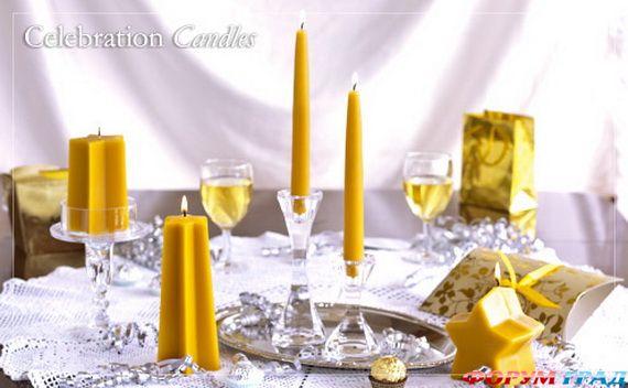 Новогодние свечи для праздничного интерьера - Фото 8