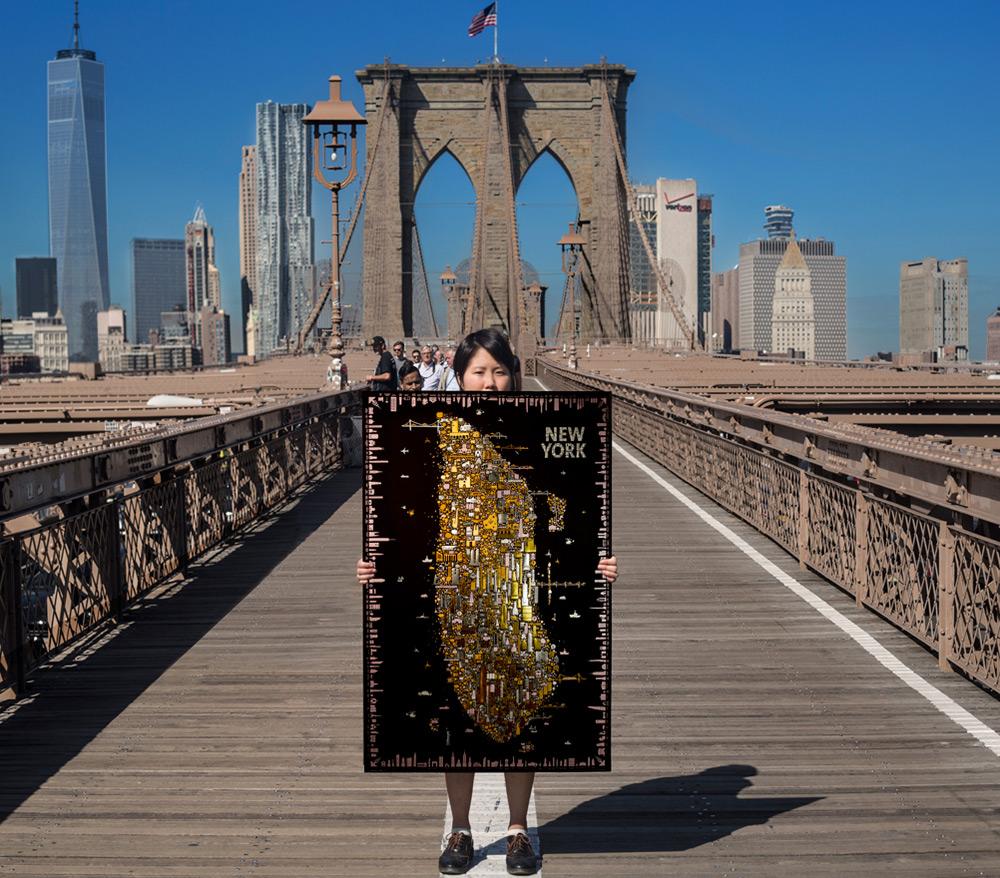 Сувенир из Нью-Йорка: роскошный плакат в эстетике рисунков Климта