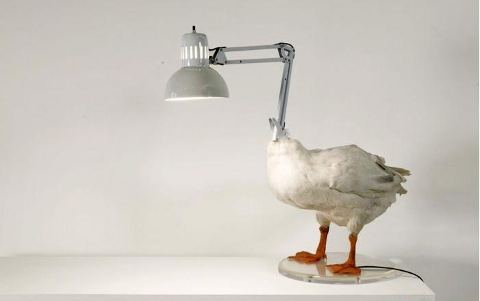 Лампа в виде гуся