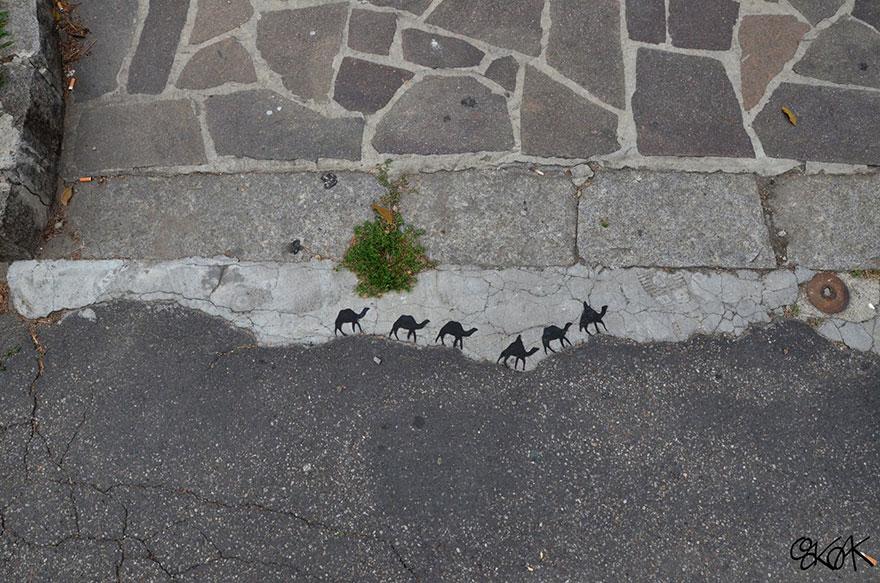 Рисунок в стиле стрит-арт во Франции