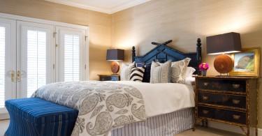 Бамбуковая мебель в спальне