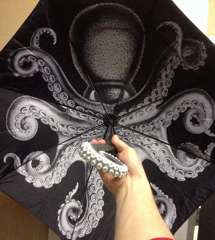 Зонт с рисунком осьминог