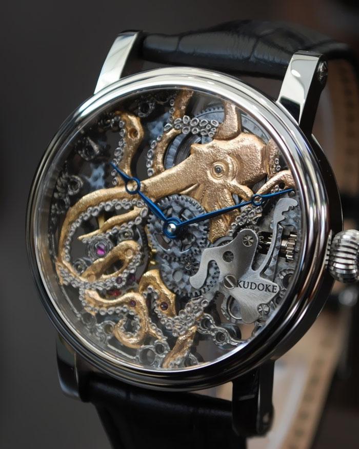 Осьминог в дизайне часов