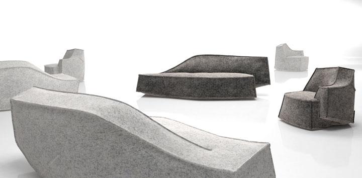 Красивый и многофункциональный предмет меблировки Airberg от дизайнера Jean-Marie Massaud