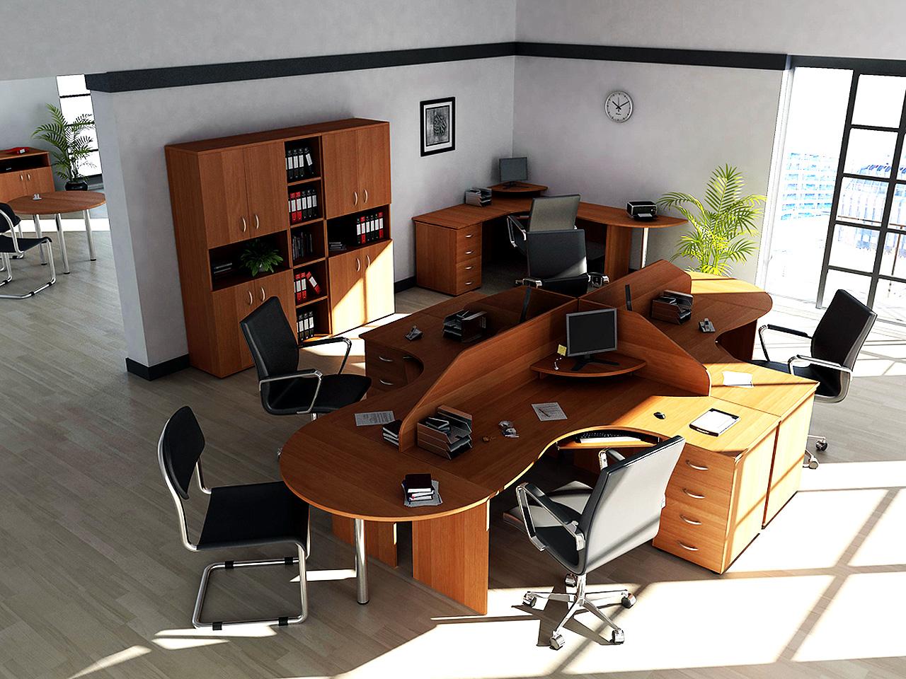 Необычная офисная мебель в интерьере