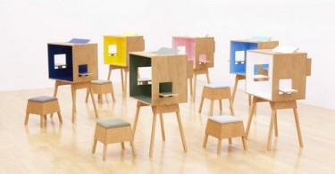 офисная мебель с причудливым дизайном