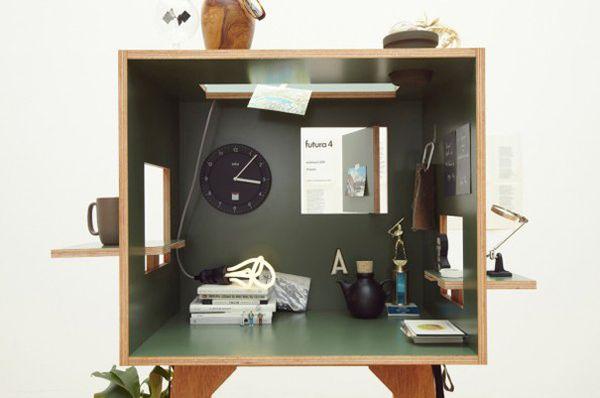 Необычный рабочий уголок Koloro desk