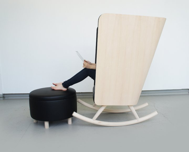 Кресло и пуф Private Rocker от Kyle Fleet