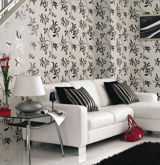 Чудесное оформление стен гостиной зоны