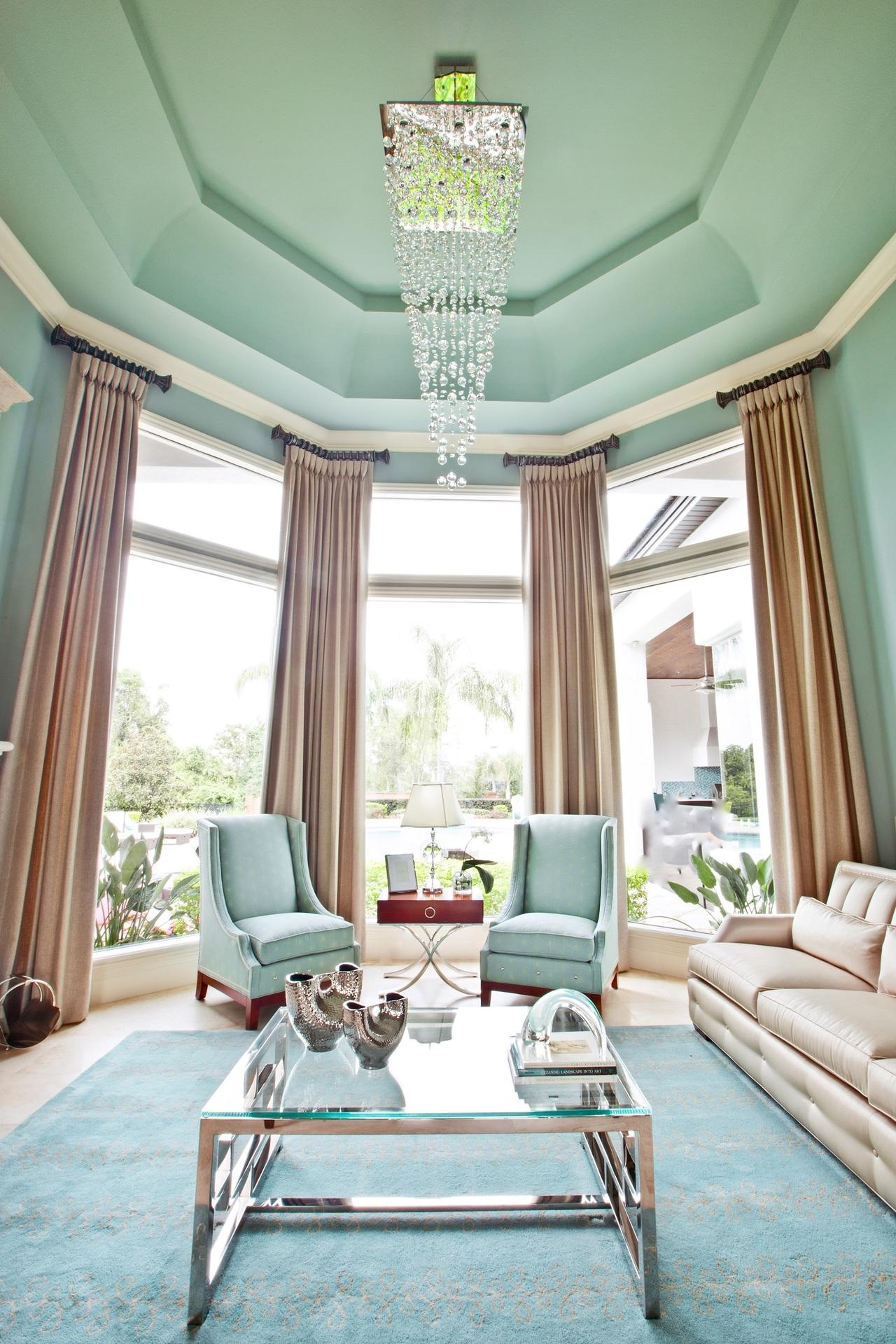 Красивый дизайн гостиной зоны