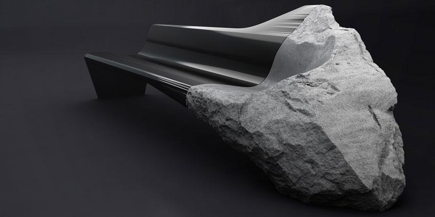 Красивый диван-скамья ONYX от Peugeot Design Lab