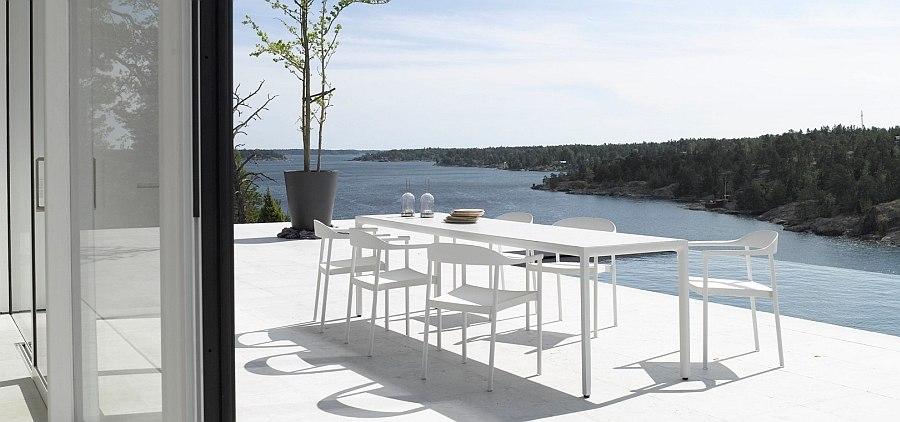 Красивый дизайн обеденного стола