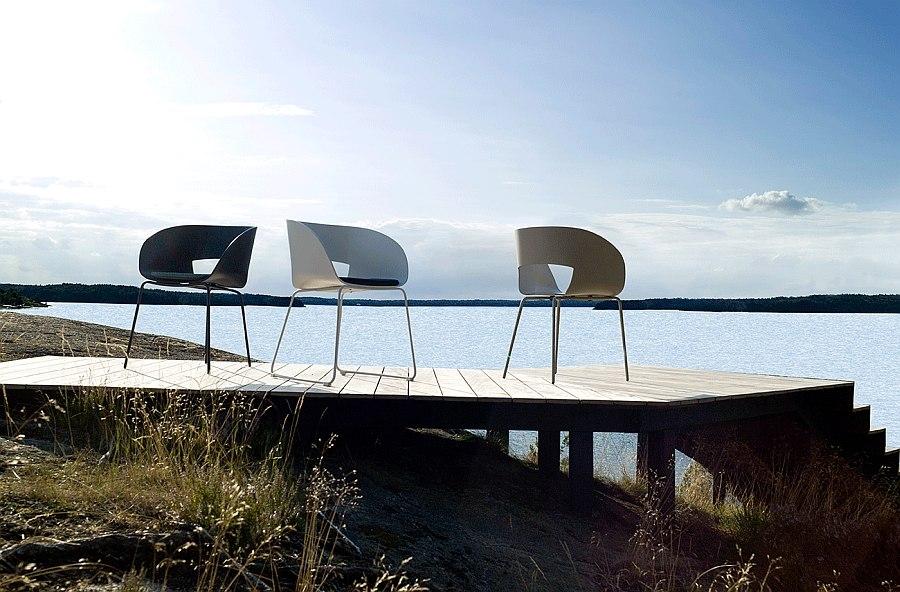 Хорошее сочетание цветового интерьера стульев