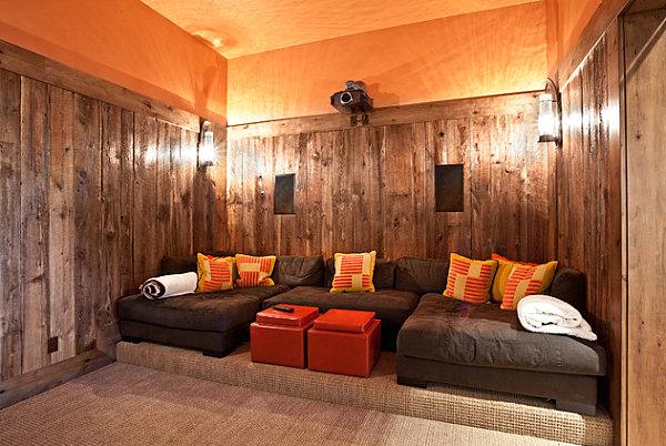 Яркие оранжевые кофейные столики
