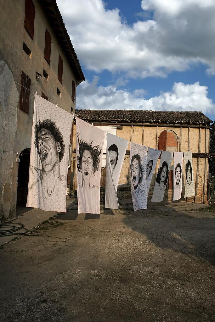 Original portraits on bed linen by Diego Beyro - for lovers of unusual home decor items