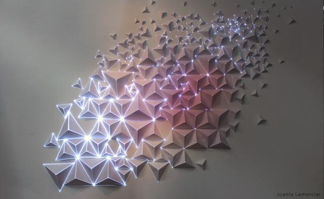 Световая инсталляция из оригами