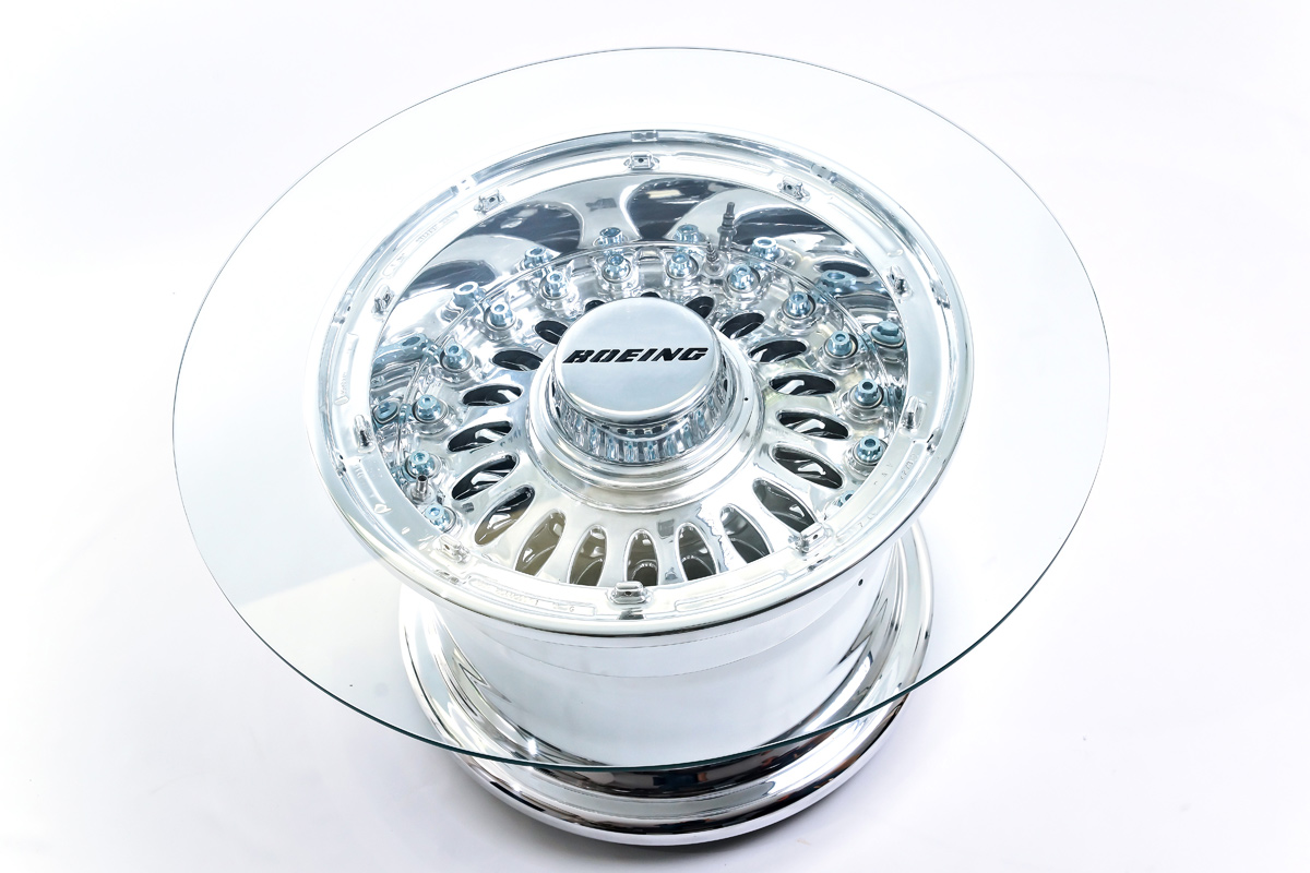 Boeing 777 Wheel Coffee Table - a masterpiece of creative design