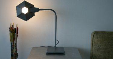 Оригинальная настольная лампа из стали от Live/Work