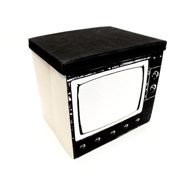 Оригинальные ящики в стиле 60-х: нарисованный телевизор