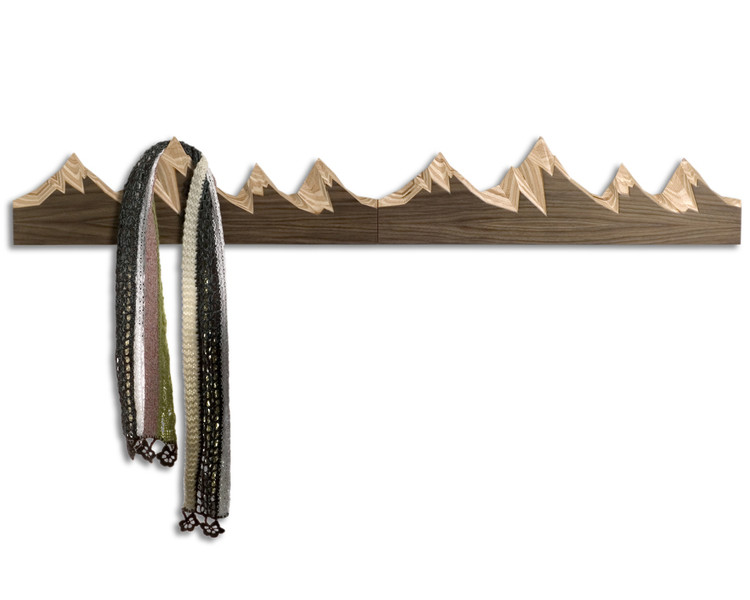 Original hangers for clothes in the shape of mountains