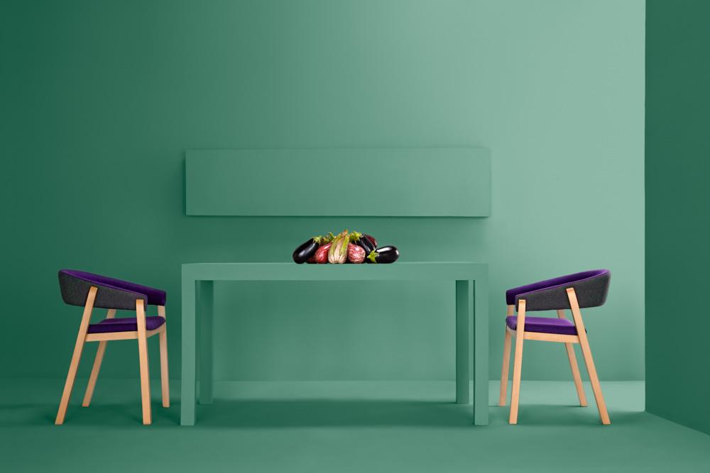 Stunning minimalist furniture pair: Oslo Chair - Valentino Bench