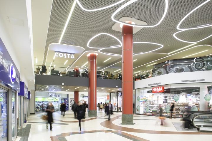 Светодизайн торгового центра Victoria Place от Hoare Lea Lighting