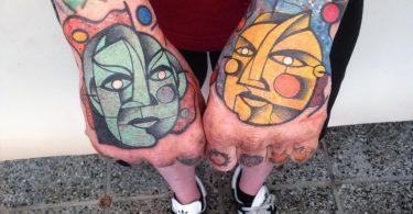 Питер Ауриш: элементы кубизма и мира природы в ярких тату из новой коллекции Мастера