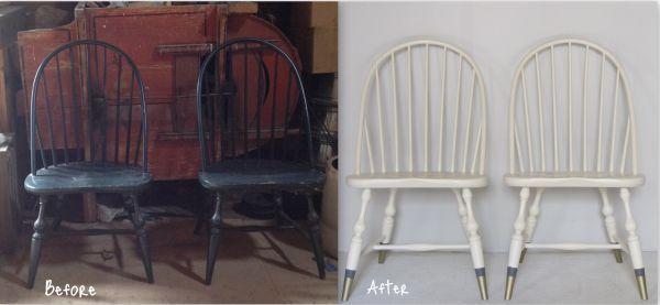 Стулья до и после реставрации