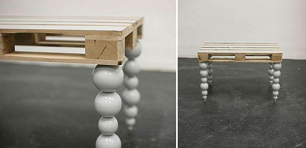Дизайнерский столик из поддона